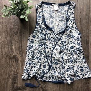Juniors Boho floral tank top